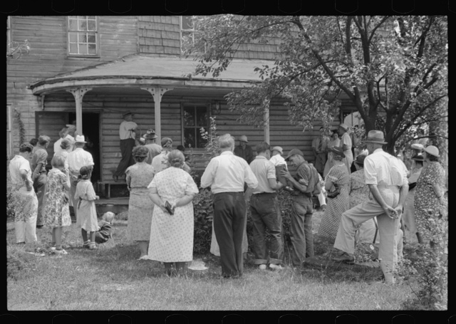 Auction sale of house and household goods, York County, Pennsylvania