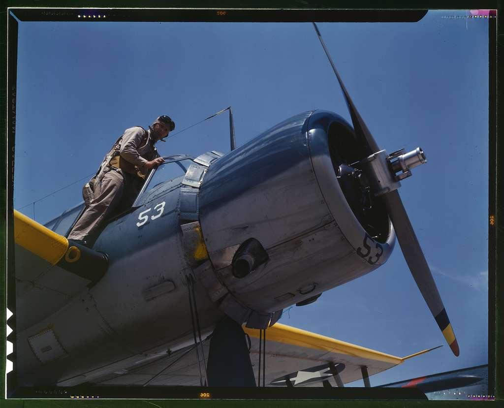 Aviation cadet in training at the Naval Air Base, Corpus Christi, Texas