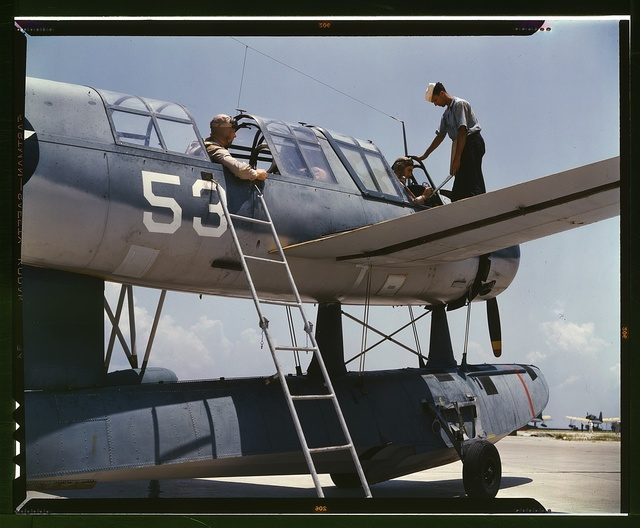 Aviation cadets in training at the Naval Air Base, Corpus Christi, Texas