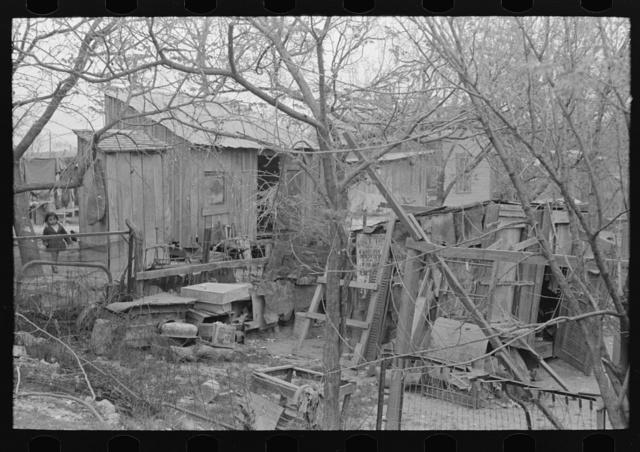 Backyard in Mexican section, San Antonio, Texas