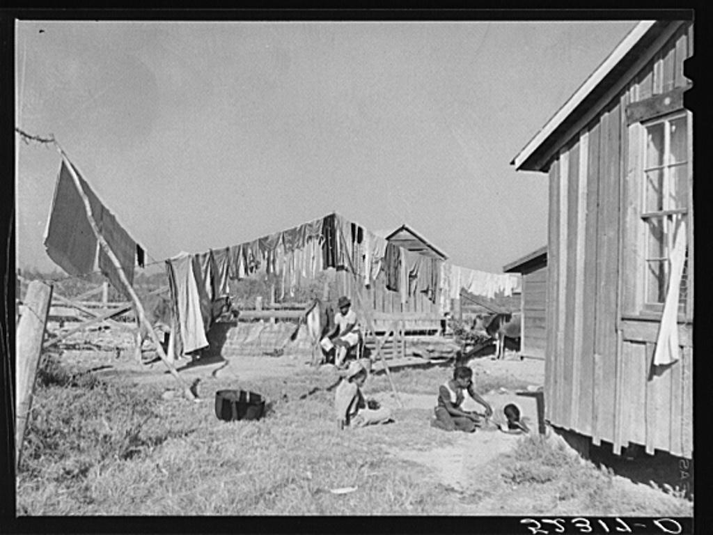 Backyard of Negro tenants' home. Marcella Plantation, Mileston, Mississippi Delta, Mississippi