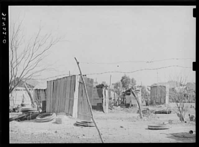 Backyard privies of Mexicans. Crystal City, Texas
