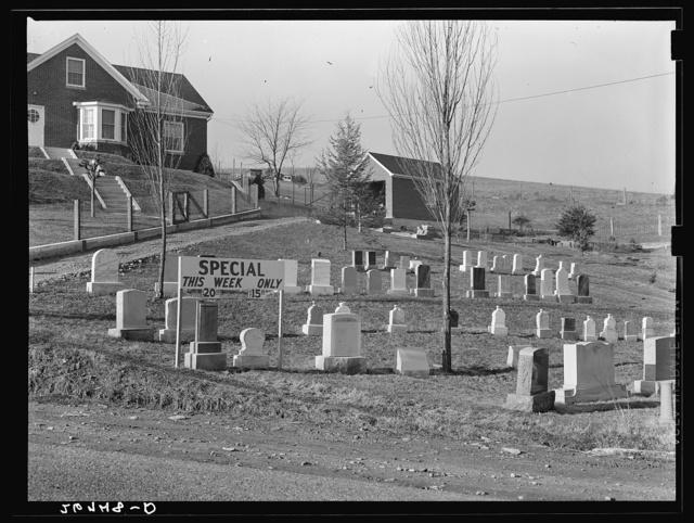 Bargain tombstones. Lexington, Virginia