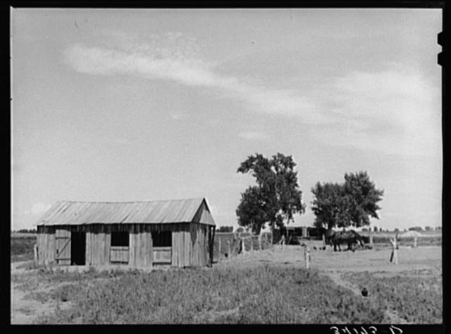 Barn and barnyard of Ernest W. Kirk Jr., FSA (Farm Security Administration client), near Ordway, Colorado