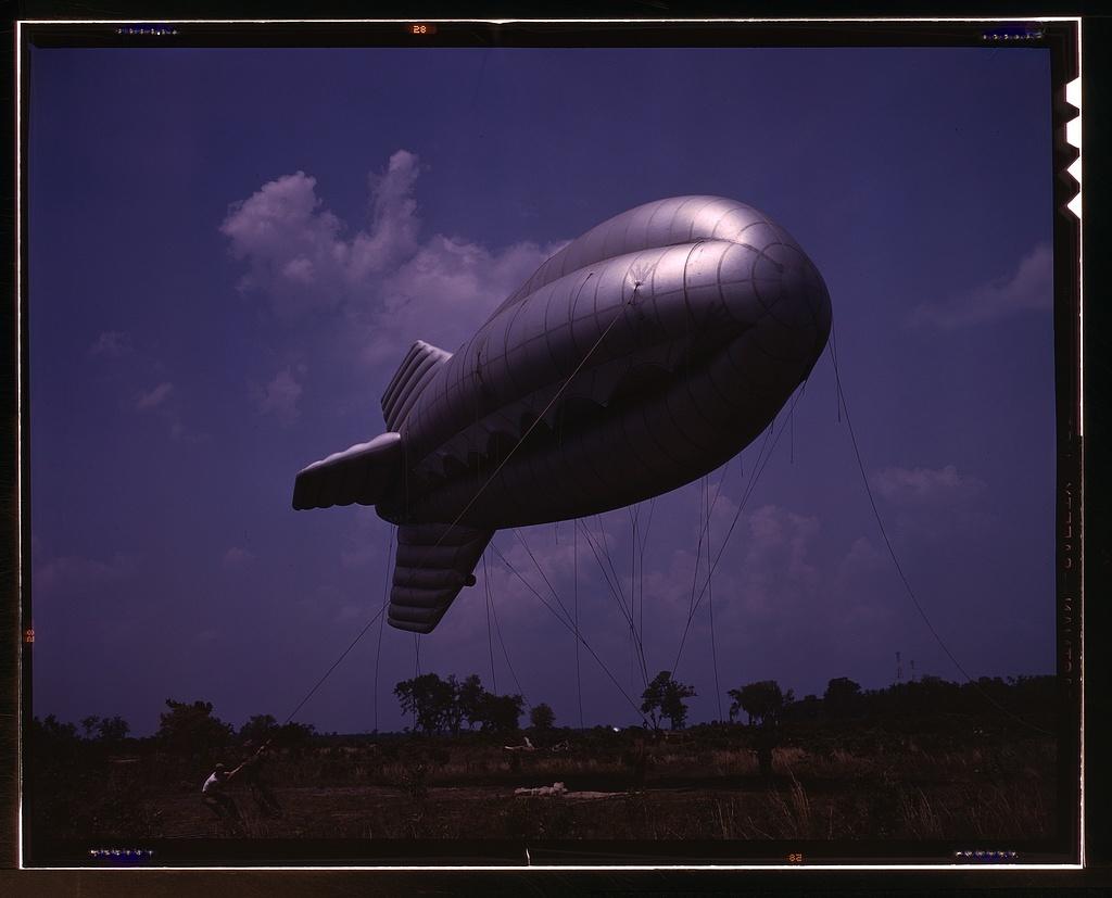 Barrage balloon, Parris Island, S.C.