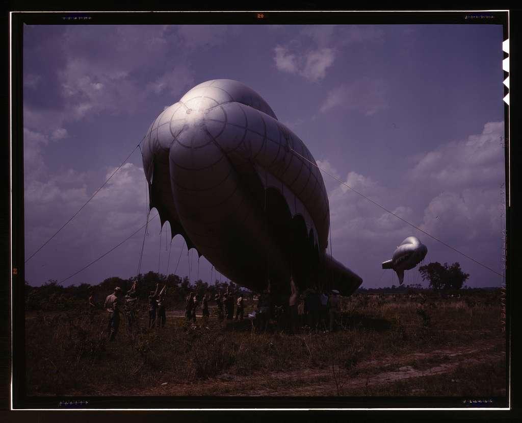 Barrage balloon, Parris Island, S.C