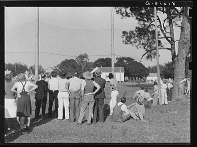 Baseball game after May Day-Health Day festivities at