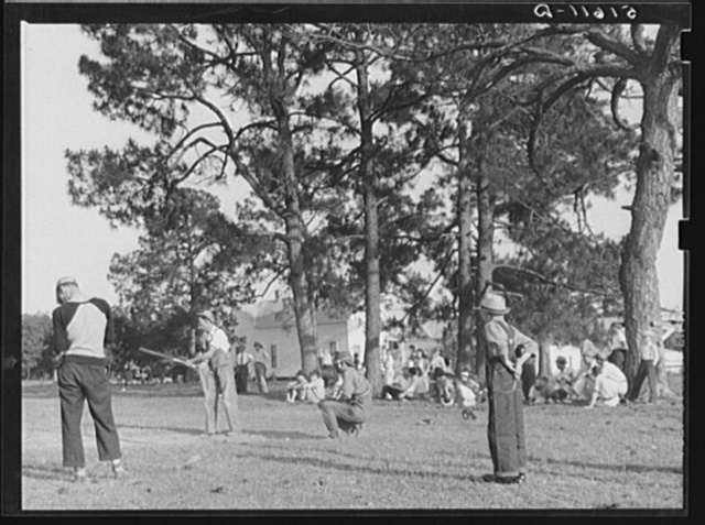 Baseball game after May Day-Health Day festivities at Irwinville Farms, Georgia
