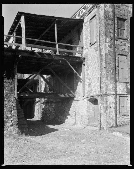 Bridges to Ware Houses, River Front, Savannah, Chatham County, Georgia