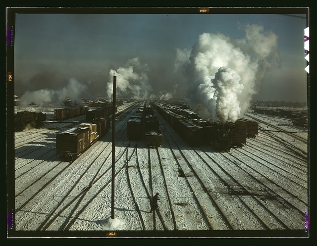 C & NW RR, a general view of a classification yard at Proviso Yard, Chicago, Ill.