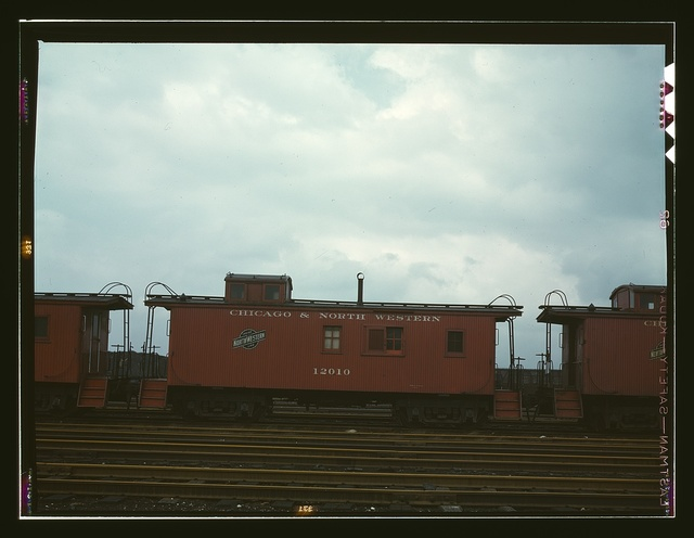 Caboose on the caboose track at C & NW RR's Proviso yard, Chicago, Ill.