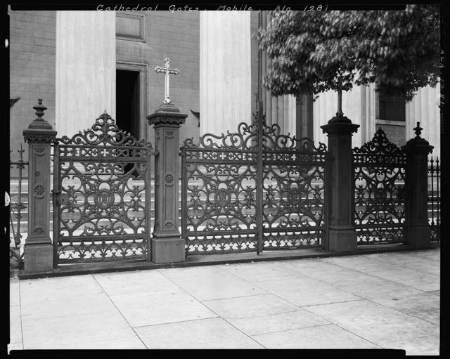 Cathedral of the Immaculate Conception, Gates, Claiborne & Conti Sts., Mobile, Mobile County, Alabama