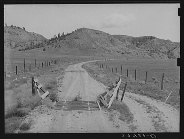 Cattleguard. Big Horn County, Montana