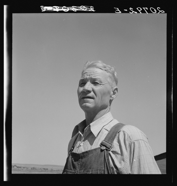Chris Ament, German-Russian dry land wheat farmer, who survived in the Columbia Basin. Washington, Grant County, three miles south of Quincy. See general caption number 35