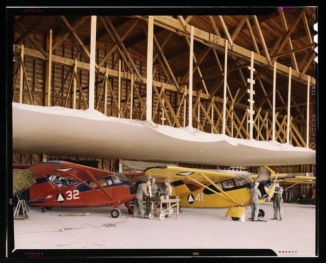 Civil Air Patrol Base, Bar Harbor, Maine. The hangar of Coastal Patrol #20