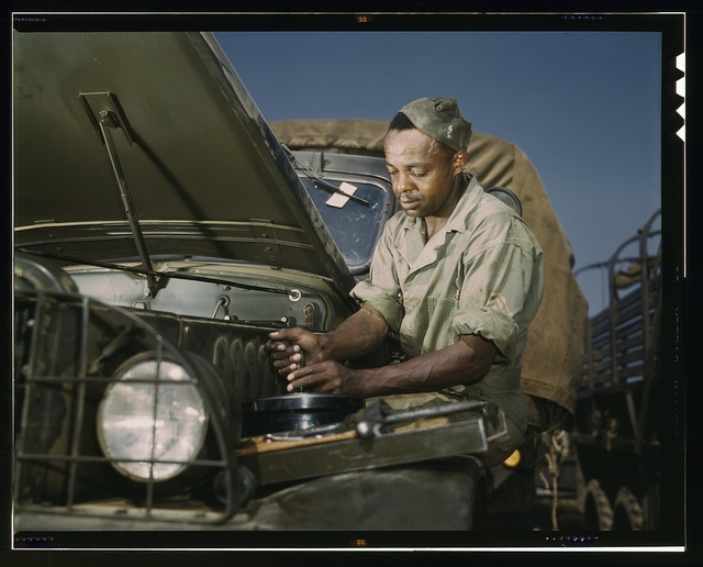 Colored mechanic, motor maintenance section, Ft. Knox, Ky.