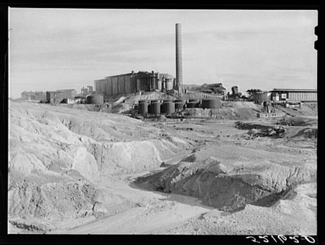 Copper mining and sulphuric acid plant. Copperhill, Tennessee