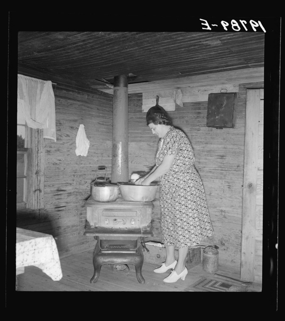 Corner of kitchen in tobacco sharecropper's home. Person County, North Carolina