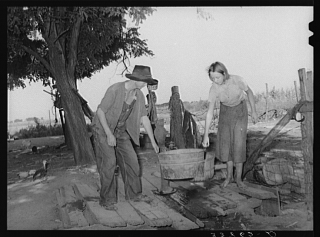 Daughter and son of tenant farmer living near Muskogee, Oklahoma. Refer to general caption number 20