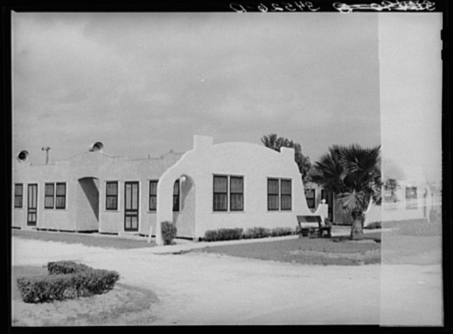 Detail of tourist camp. Corpus Christi, Texas