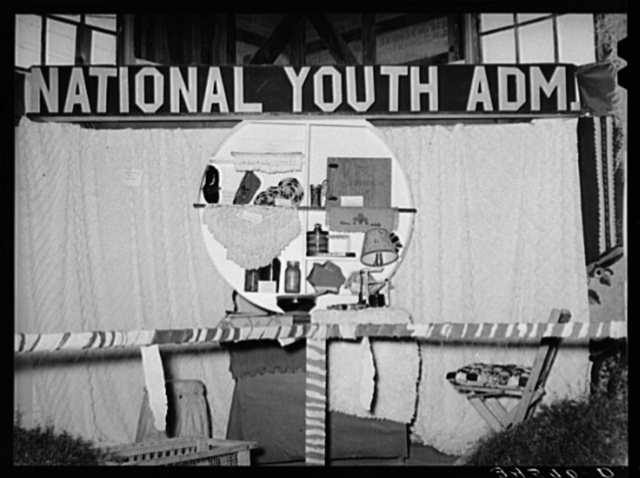 Display of National Youth Administration at Gonzales County Fair, Gonzales, Texas