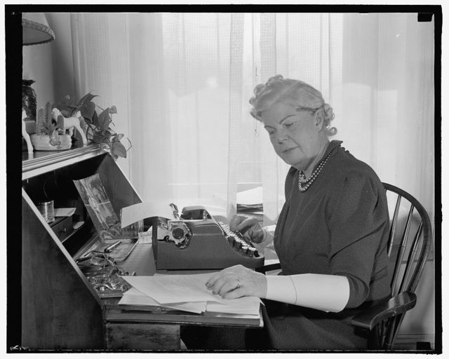 Doubling in brass. Washington, D.C., Feb. 27. In addition to her duties as a congressional hostess, Mrs. William T. Byrne, wife of the democratic congressman from New York, is also acting as Washington correspondent for a number of New York state newspapers. [She] writes a daily newsletter for the Albany Times-Union, 2- 27-39