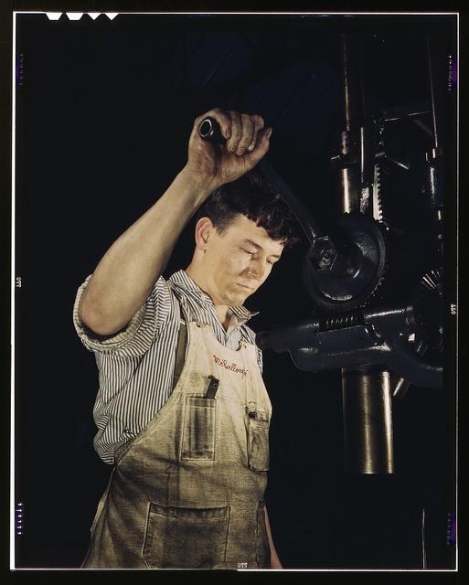Drill press operator, Allegheny Ludlum Steel[e] Corp., Brackenridge, Pa.