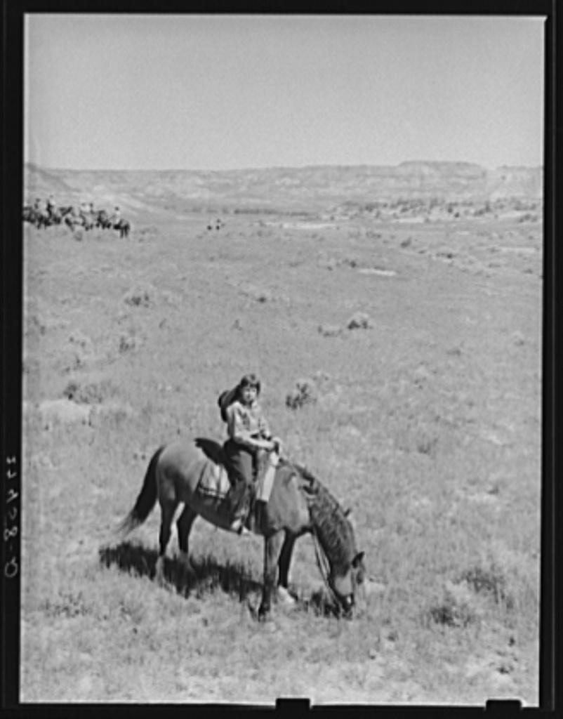 Dude girl. Quarter Circle 'U' Ranch, Montana