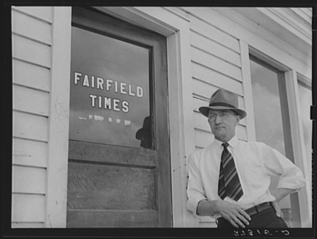Editor of Fairfield Times. Fairfield, Montana