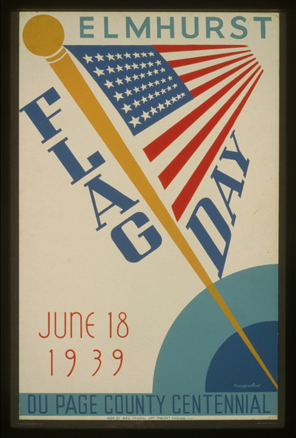 Elmhurst flag day, June 18, 1939, Du Page County centennial / Beauparlant.