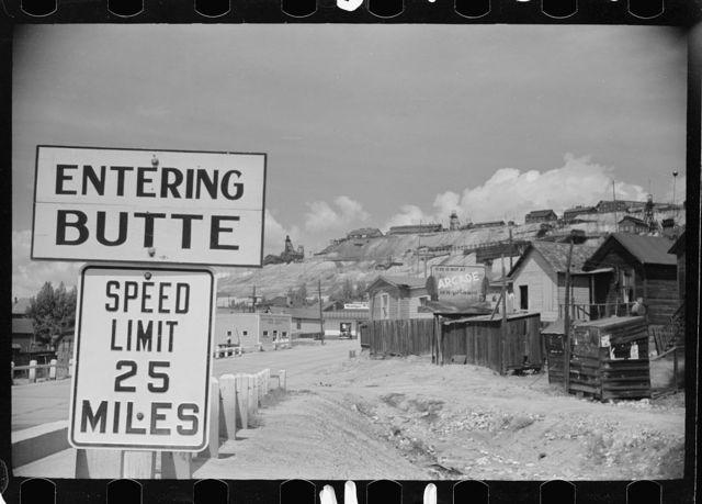 Entering Butte, Montana
