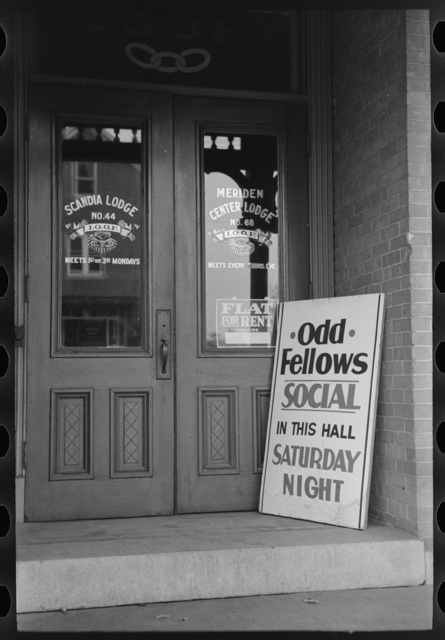 Entrance to Odd Fellows Hall, Meriden, Connecticut