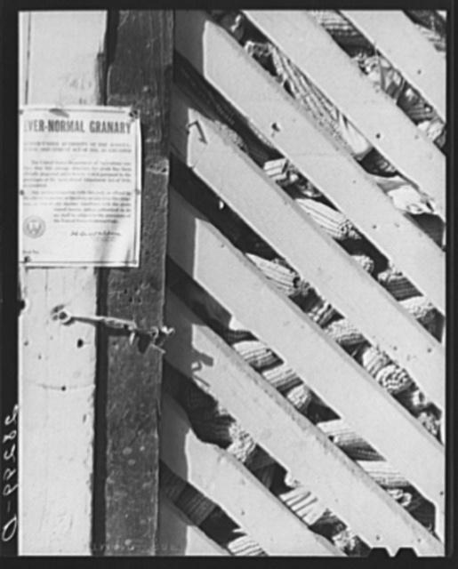 Ever-normal granary seal on corn crib. Grundy County, Iowa