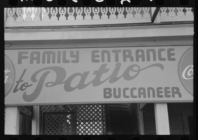 Family entrance to nightclub, Corpus Christi, Texas
