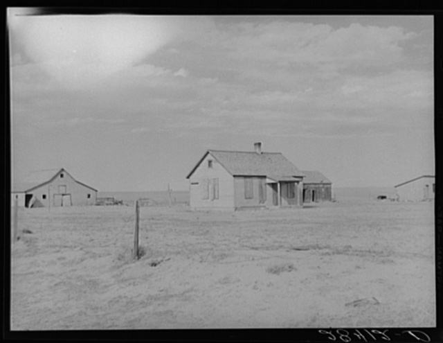Farm abandoned because of continuous crop failures. Weld County, Colorado