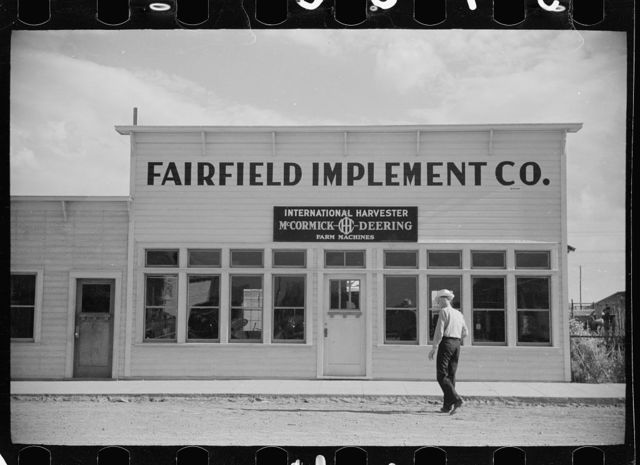 Farm machinery store, Fairfield, Montana