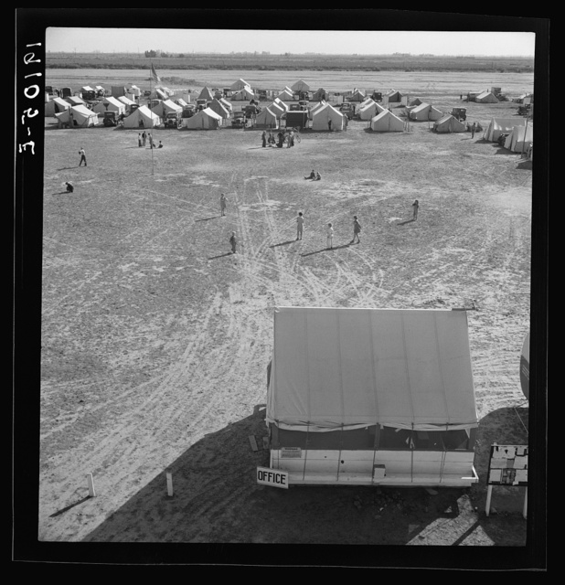 Farm Security Administration (FSA) migratory labor camp. Calipatria, Imperial Valley, California