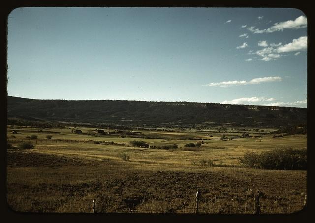 Farmland in Pleasant Valley near Ridgway, Ouray County, Colorado