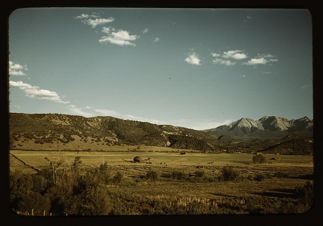 Farmland in the vicinity of Mt. Sneffels, Ouray County, Colorado