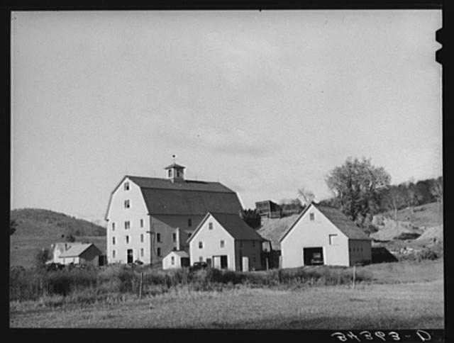 Farmstead on Highway No. 4 near Bridgewater, Vermont