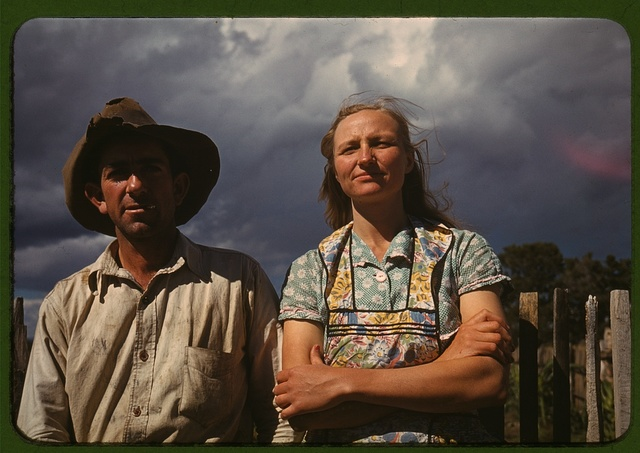 Faro and Doris Caudill, homesteaders, Pie Town, New Mexico