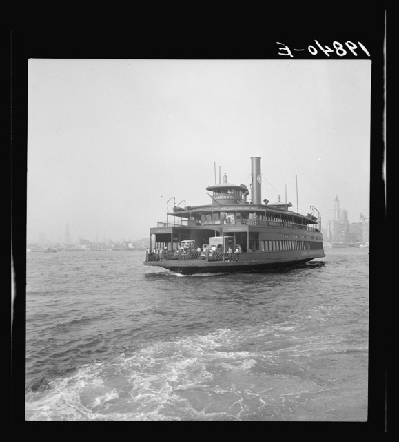 Ferry boats still transport some of the traffic between New York City and Jersey