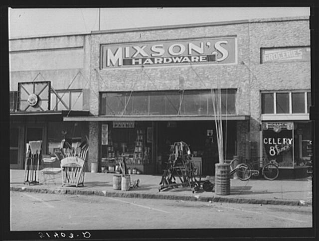 Front of hardware store. Enterprise, Alabama
