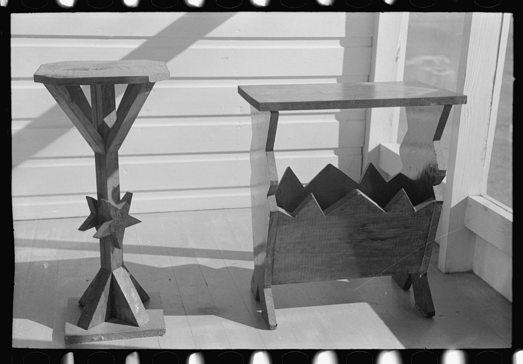 Furniture made by members of Chicot Farms, Arkansas