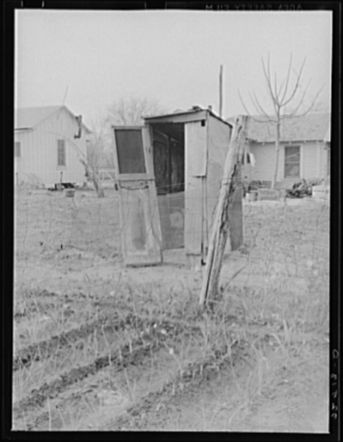 Gardens planted close to privies. Mexican section, San Antonio, Texas. Possible source of typhoid