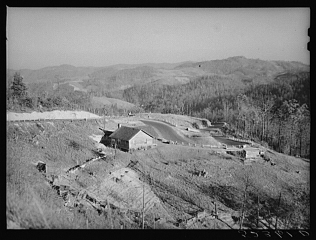 General landscape near the Smokey Mountains. Tennessee