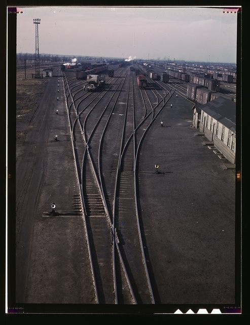General view of one of the Chicago and Northwestern railroad yards, Chicago, Ill.