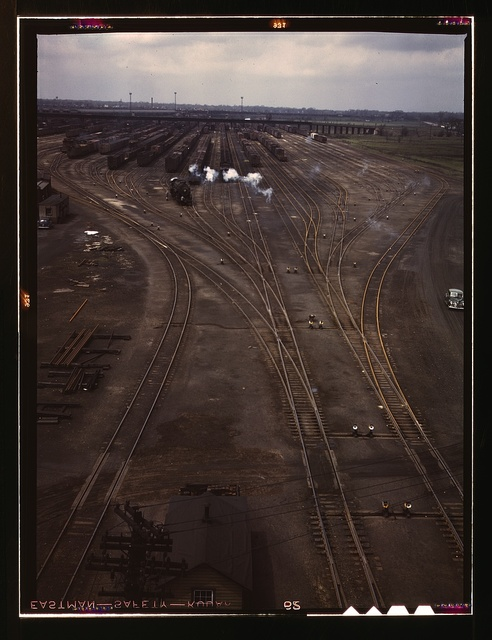 General view of one of the departure yards at C & NW RR's Proviso yard, Chicago, Ill.
