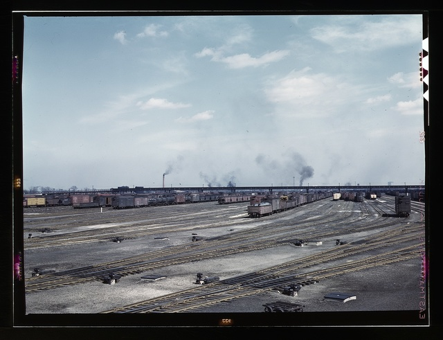 General view of part of classification yard at C & NW RR's Proviso yard, Chicago, Ill.