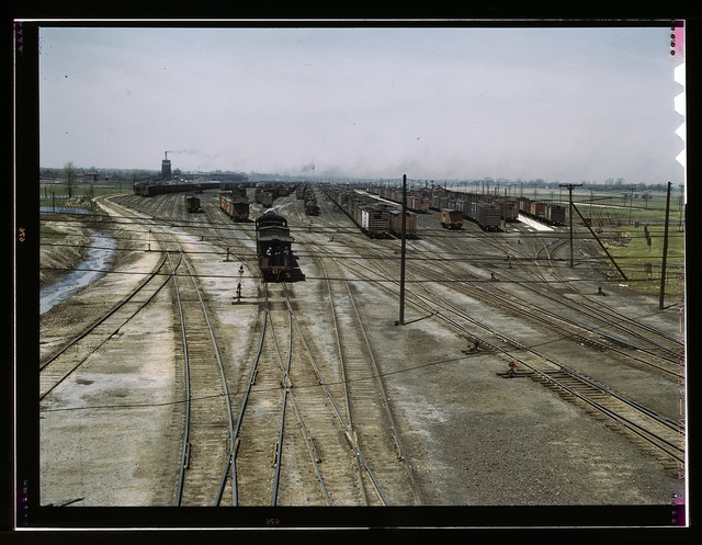 General view of part of the Bensenville freight yard of the Chicago, Milwaukee, St. Paul and Pacific Railroad, Bensenville, Ill.